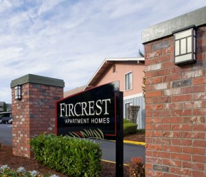 Fircrest Apartments Signage
