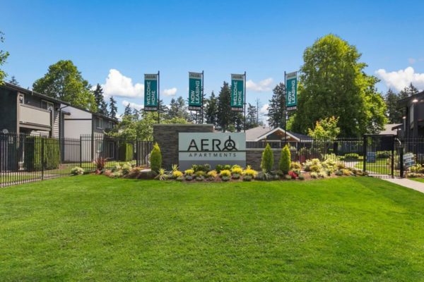 Aero Apartments Signage