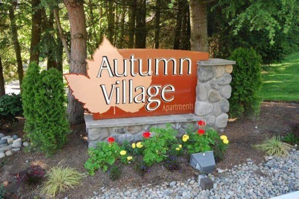 Autumn Village Apartments Sign