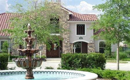 Rosemont at Mayfield Villas Exterior with Fountain