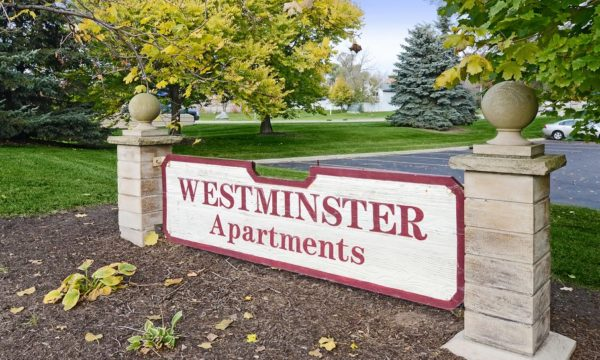 Westminster Apartments Signage