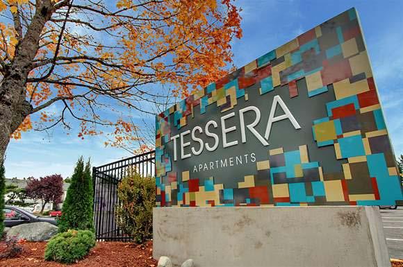 Tessera Apartments Signage