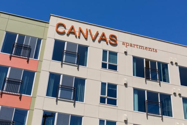 Canvas Apartments Exterior Signage